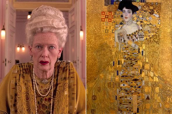 Tilda Swinton as the Great Madame D.: A Klimt Painting Come to Life