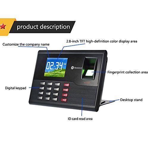 HFeng 2 8 inch TCP/IP/USB Realand Biometric Fingerprint Time
