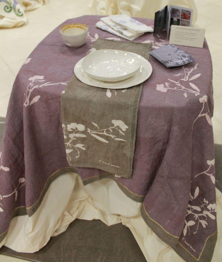 Tovaglia di tessuto di canapa Stamperia Bertozzi - Antica Fiera della Canapa #Gambettola 22 Novembre 2014