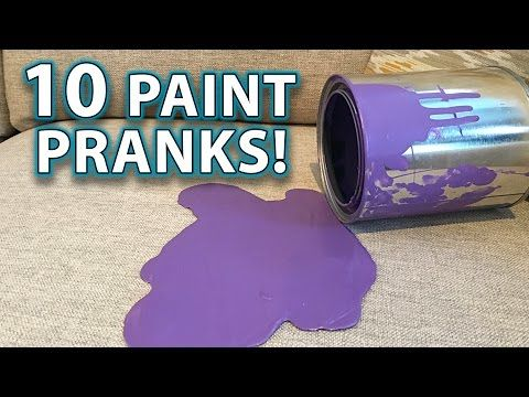 Top 10 PRANKS with PAINT! (How to Gags, Tricks, Hacks!) - YouTube