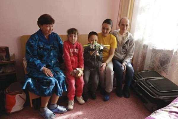 PHOTO: Crimean tatar family in Kyiv, Ukraine in late March, refugees from Crimea