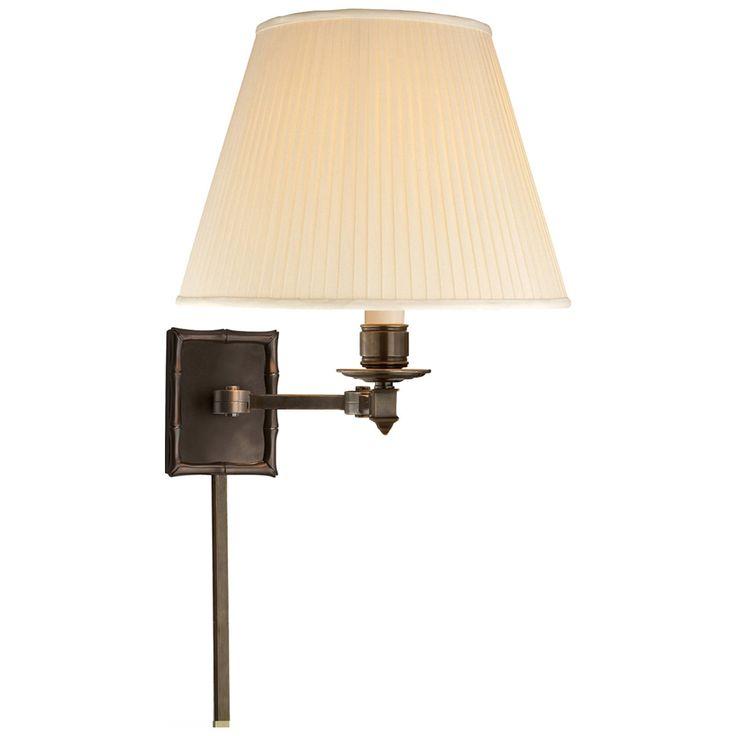 Visual Comfort Alexa Hampton Carole 1 Light Swing-Arm Wall Light