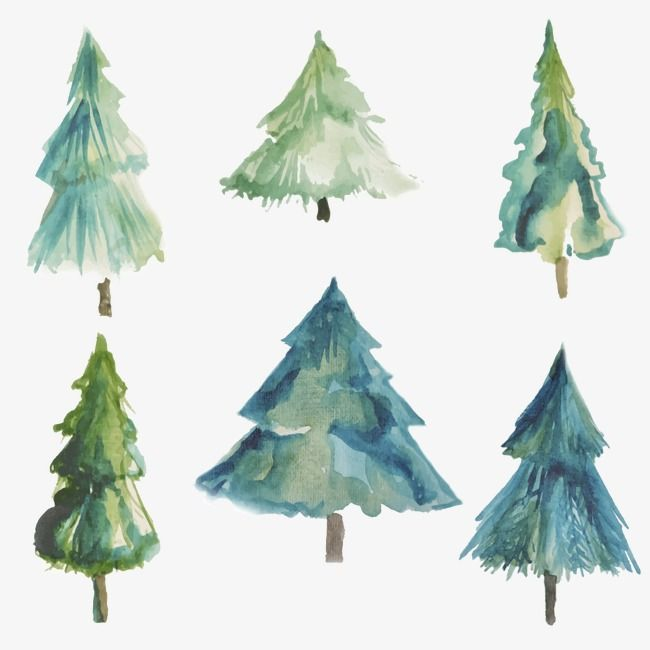 Watercolor Christmas Tree Tree Clipart Watercolor Christmas