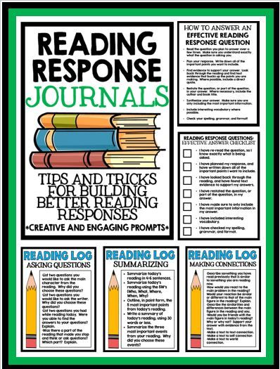 Reading Response Journals: Tips and Tricks for Building Quality Reading Responses!  Creative writing prompts included!