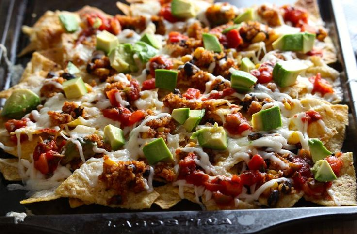 Fully Loaded Mexican Quinoa Nachos