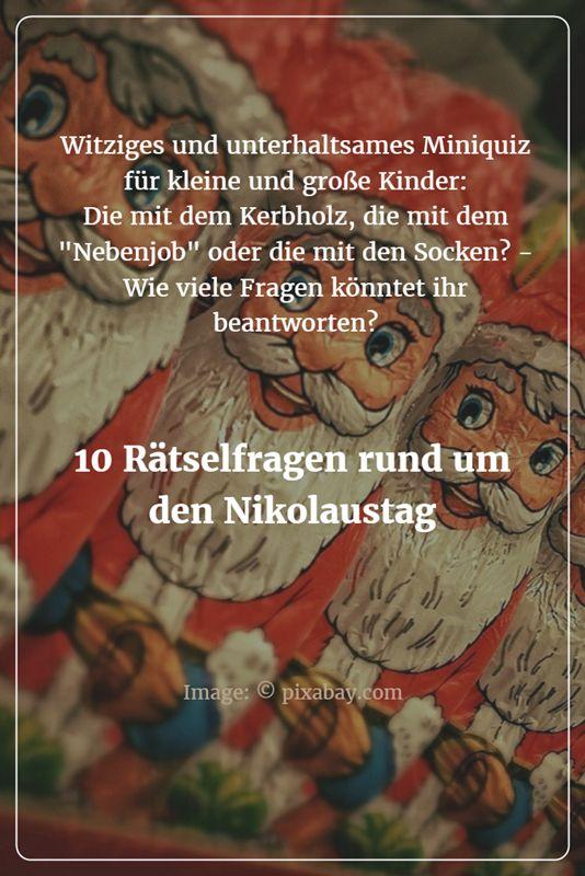 10 witzige und unterhaltsame Fragen rund um den Nikolaus und den Nikolaustag