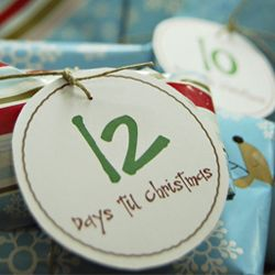 """12 Days"" Countdown Tags"