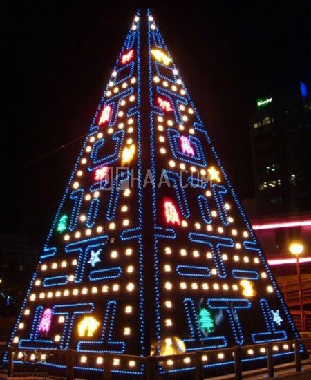 Unusual Christmas trees - 10 Pics | Curious, Funny Photos / Pictures