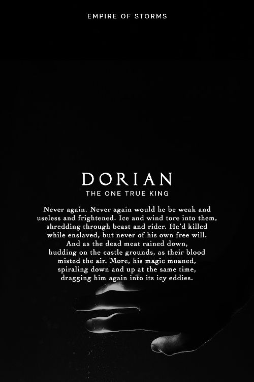 Empire of Storms - Dorian [Spoilers]                                                                                                                                                                                 More