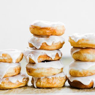 Donut or doughnut?  Either way, happy #nationaldonutday!  Celebrate with my classic Glazed Doughnuts! They're so light and fluffy and even better than Krispy Kreme  Recipe link in bio @handletheheat