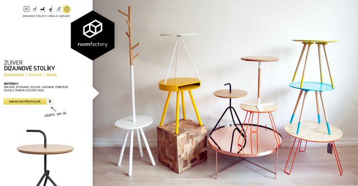 Poznáte už naše dizajnové stolíky? Konferenčné, príručné, nočné, drevené, dýhované, oceľové... Koľko chutí, toľko stolíkov, farieb a prevedení pre Váš interiér.