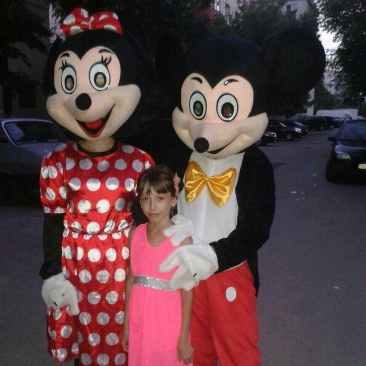 Minnie si Mickey Mouse pentru botez