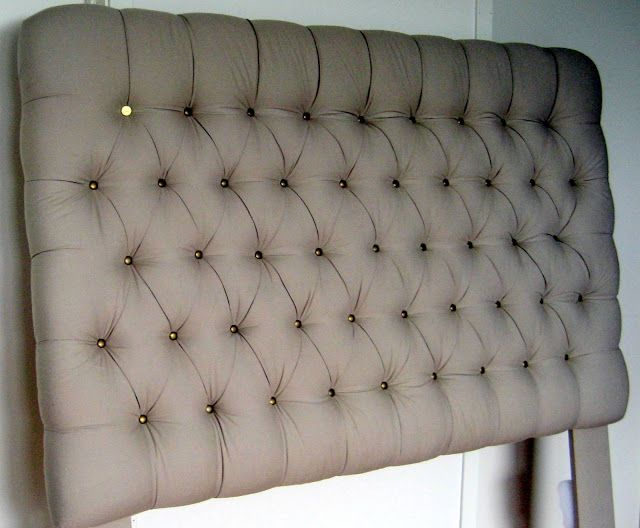 DIY sengegavl, sengegavl med knapper, lag selv sengegavl