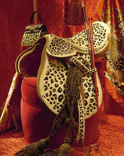 Leopard Saddle- Hermes Paris Window..are there any Texas Cowgirls that would ride in this saddle?
