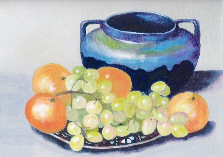Still Life on stretched canvas. (c) J.M. Baker