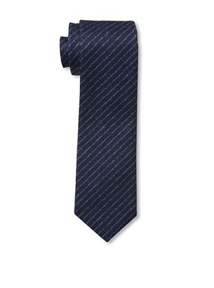 Desanto Men's Scozia Pinstripe Tie, Navy/White