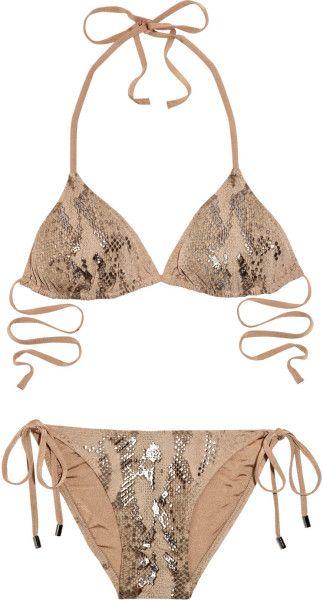 Melissa Odabash Mexico Snakeprint Triangle Bikini