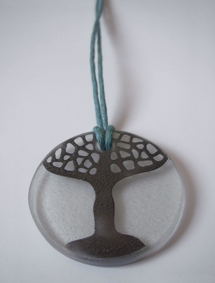 "The glass pendant ""White tree"""