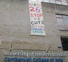 Stop the Cuts protest, University of the Arts London, Camberwell College of Arts