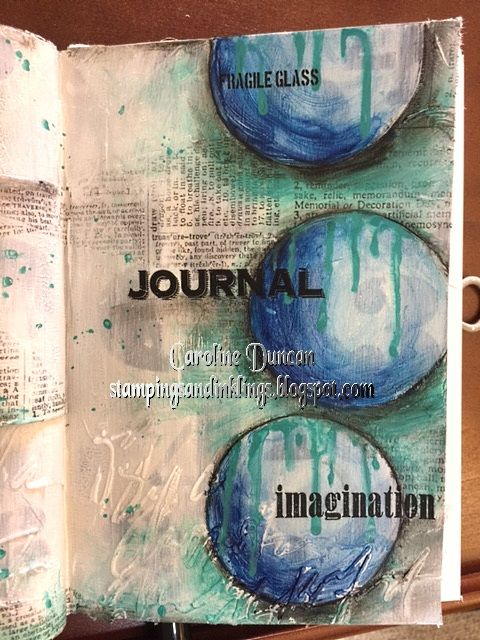 art journal by Caroline Duncan ~ Stampings and Inklings ~ IW2016, inspiration wednesday, donna downey