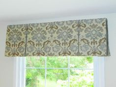 Box Pleat Valance with Two Smaller Sections on Sides and Larger Section in Middle