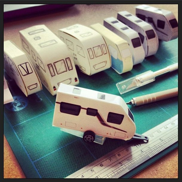 The evolution of my miniature caravan… over  prototypes to get it just right!