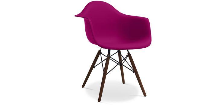 Chaise DAW Piètement foncé Charles Eames Style - Polypropylène Matt pas cher