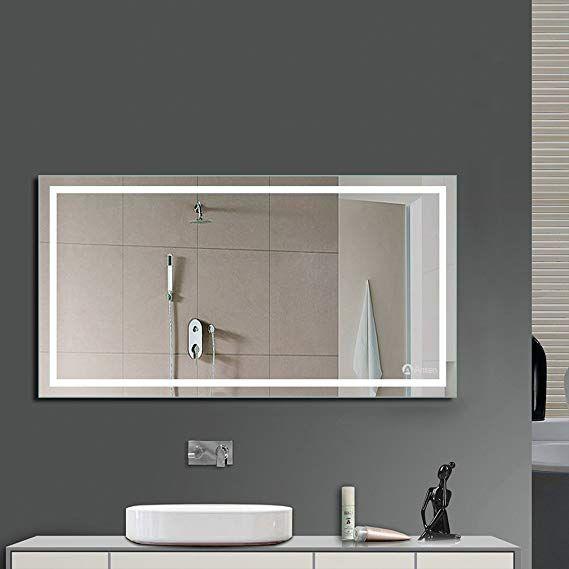 Anten Led Bathroom Illuminated Mirrors 1000 X 600 Mm Makeup Vanity Mirror With Lights 23w 6000k Cool Bathroom Mirror Lights Illuminated Mirrors Bathroom Mirror
