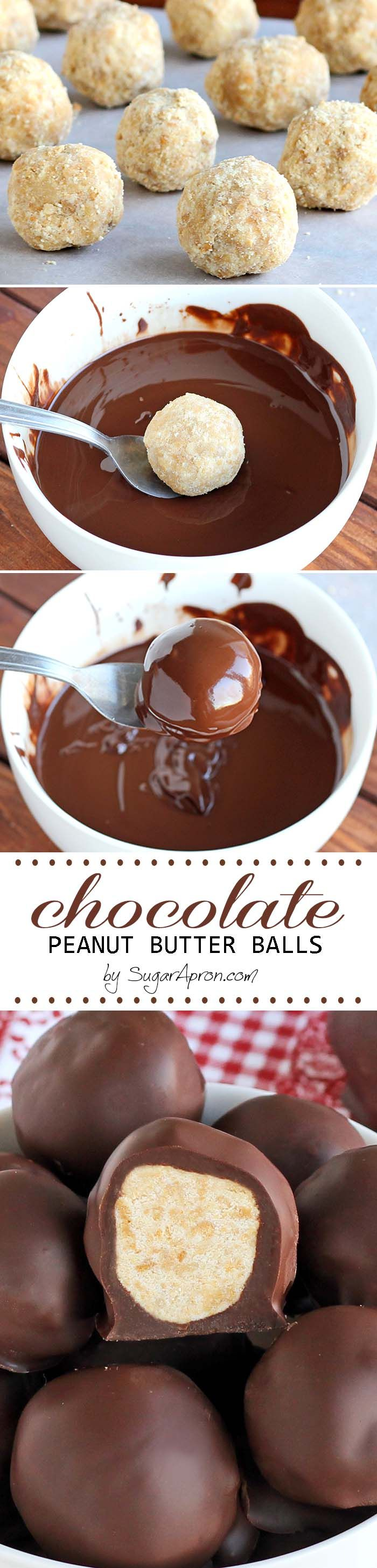 Chocolate Peanut Butter Balls only require a few ingredients and they are so easy to whip up. Oh, and they're super addicting....like chips...I bet, you can't eat just one.