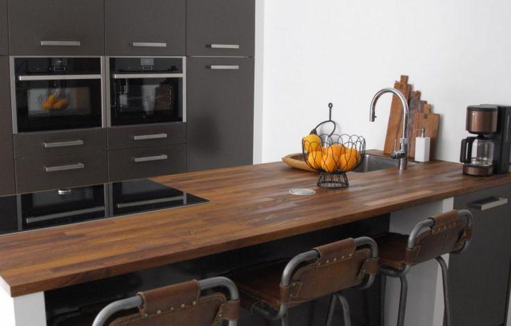 Trendy keuken met industriële look.