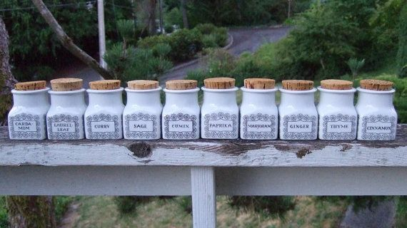 Arabia of Finland Esteri Tomula Spice Jars by PeacockVintageModern, $295.00