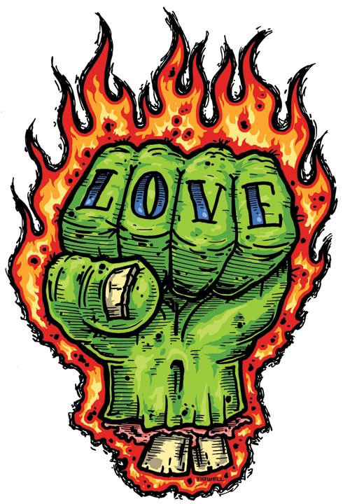 Zombie love fist sticker by jeral tidwell night of the zombie hunter