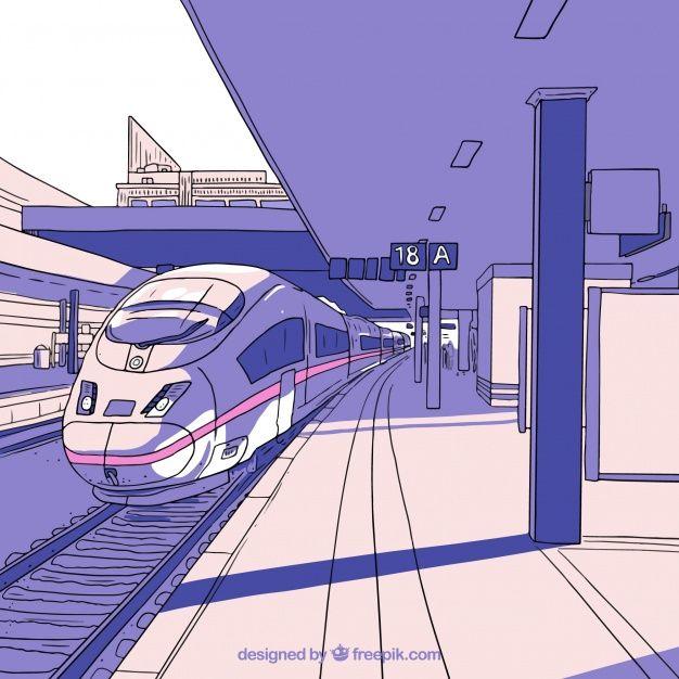картинки чтобы рисовать в поезде эффектами домашняя