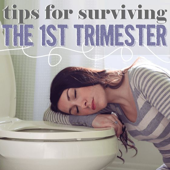 "For some women, the first trimester of pregnancy is a breeze, full of happiness and the start of a pregnancy glow. But it isn't so easy for everyone. Some of us battle ""all-day"" sickness, exhaustion, constipation, headaches, and even acne. Read on for tips on coping with some of the more common symptoms of the first trimester."
