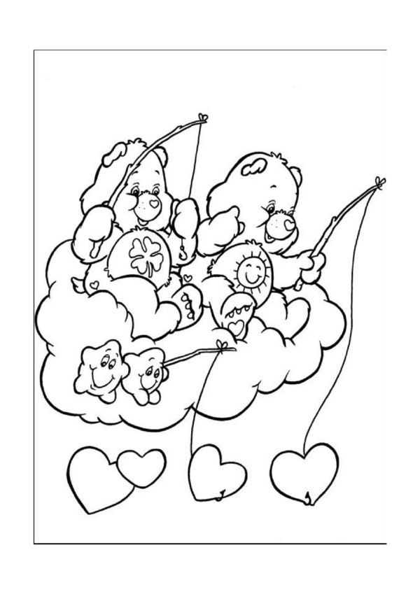126 Best Care Bears Coloring Pages Images On Pinterest Care - care bear colouring pages to print