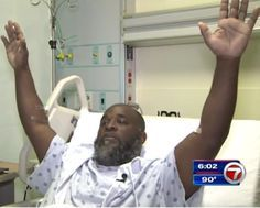 Charles Kinsey, a therapist in a group home, was shot with his hands up, while laying on his back in the middle of the street. Thankfully, he survived.