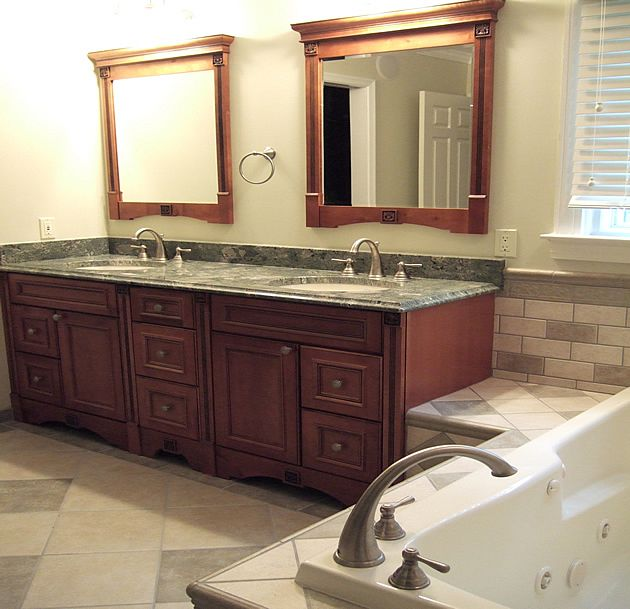 Granite Vanity Mirrors MasterNew Master BathroomFramed  1000 images about  Bathroom Remodel on Pinterest Cardiff. Kraftmaid Framed Bath Mirrors