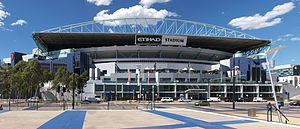 Etihad Stadium in Melbourne where I will be watching the Mighty Adleiade Crows vs North Melbourne Kangaroos