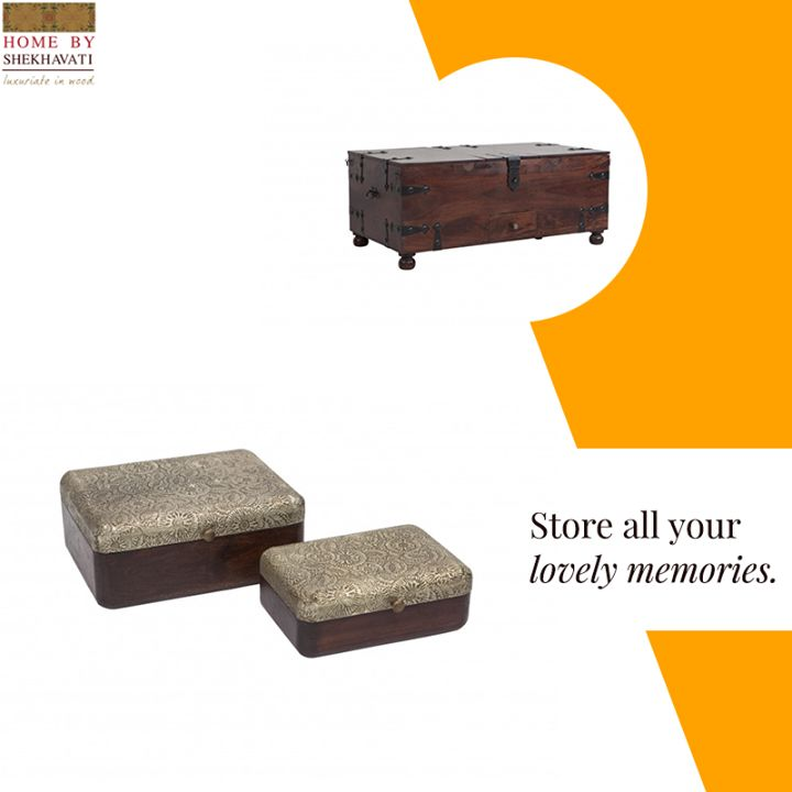 Memories - The best thing in LIFE! Preserve your precious memories in these graceful boxes from Home By Shekhavati. They are built beautifully with ample space where you can keep all your loved and sentimental items and embrace them forever. To buy them, contact: +91-9414100611