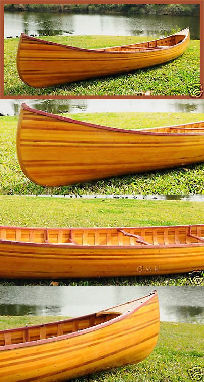 Canoes 23800: Cedar Strip Built Canoe Wooden Boat 12 W Ribs Woodenboat Usa For Sale -> BUY IT NOW ONLY: $2634.71 on eBay!