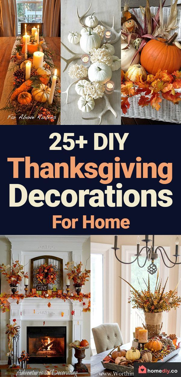 25 Diy Thanksgiving Decorations Best Decor Ideas For Home Decor