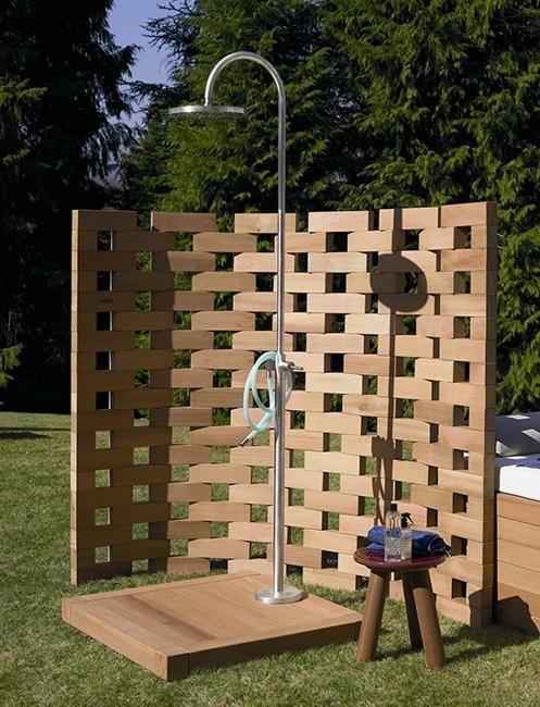 the 25+ best außendusche ideas on pinterest | gartendusche ... - Ideen Gartendusche Design Erfrischung