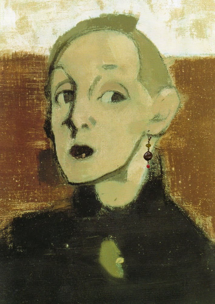 Helene Schjerfbeck (1862-1946) Self Portrait. This is my favourite self portrait of Schjerfbeck. It grabbed me by the throat the first time I saw it 'for real'.