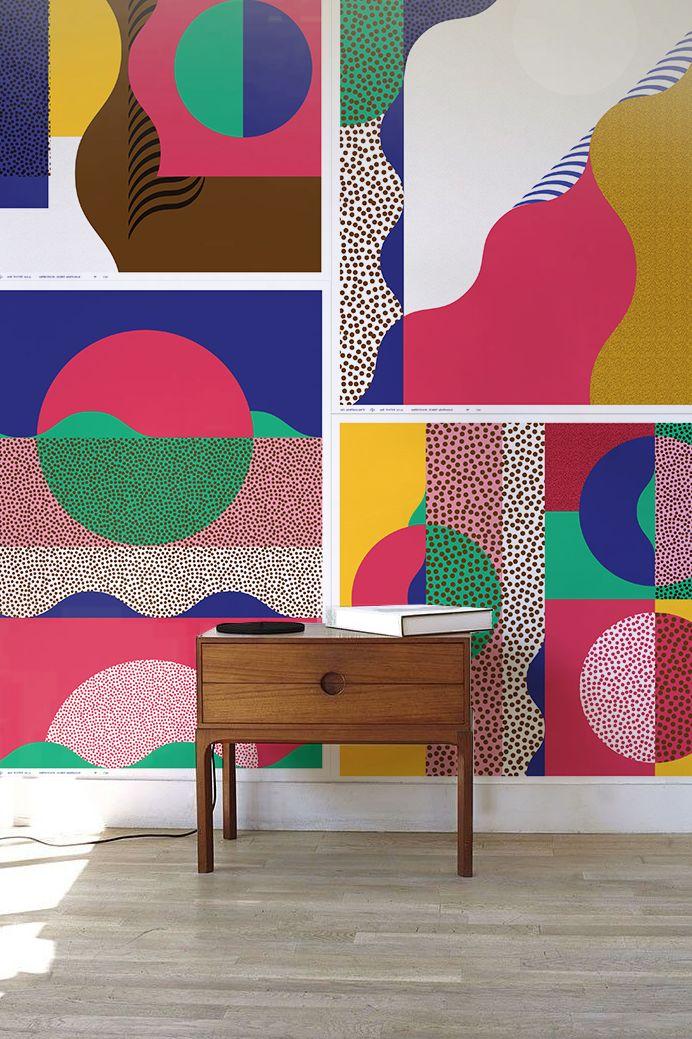 wallpapers ultima tendencia de diseño, en estilo abstracto son ideales en el norte , este y sureste de tu espacio. www.espaciosawa.com