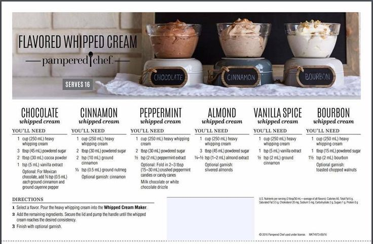 Make your own whipped cream now with our Whipped Cram Maker. Control your ingredients, sweetness and make in small batches. pampered chef.biz/roxannelangley