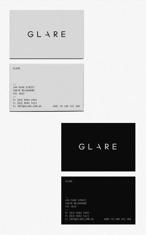 45 best duplex business cards images on pinterest brand identity glare identity by temple business card reheart Gallery