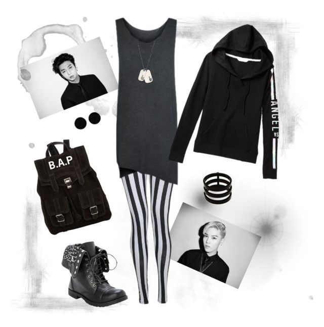 """B.A.P"" by vinne on Polyvore featuring Anna Bee, Proenza Schouler, AeraVida, Repossi, blackandwhite and bap"