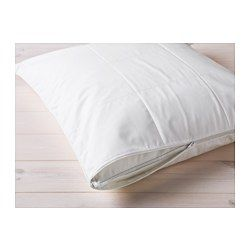 IKEA - KUNGSMYNTA, Pillow protector, Queen, , You can prolong the life of your pillow and protect against stains and dirt with a pillow protector.You get a dry and comfortable sleeping environment since the lyocell/cotton cover breathes well, which helps air to circulate and moisture to evaporate.A good choice if you are allergic to dust mites since the protector is machine-washable at 140°F (Hot), a temperature that kills dust mites.