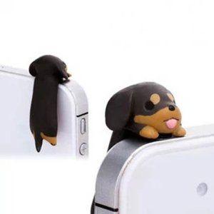 Amazon.com: Adorable Little Brown Dachshund Dog Puppy Dust Plug 3.5mm Smart Cell Mobile Phone Plug Headphone Jack Earphone Cap Dustproof Plu...