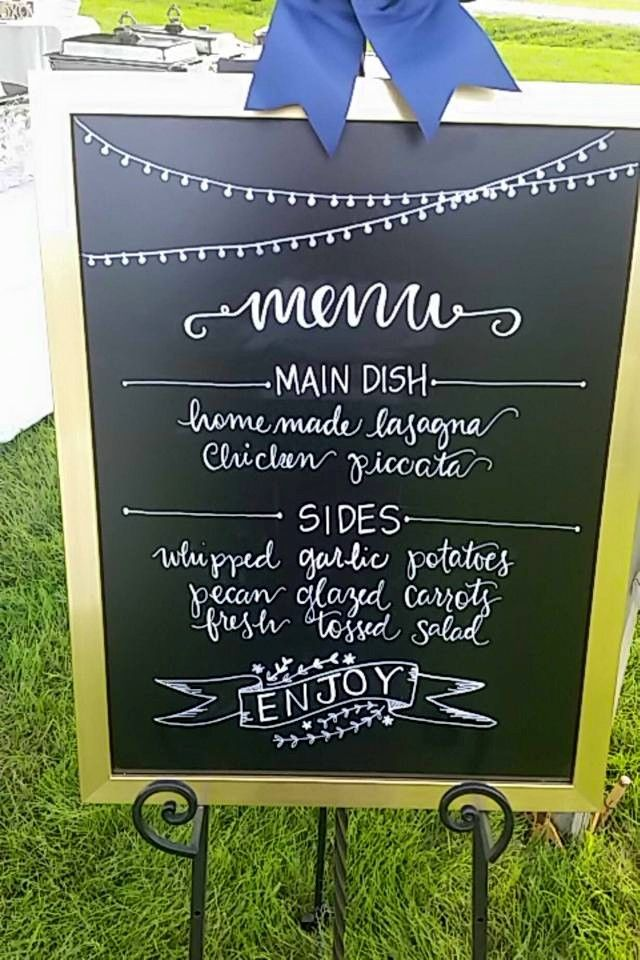 Chalk Board Dinner Menu